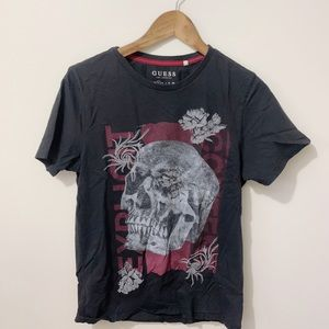 Guess Skull Graphic T Shirt